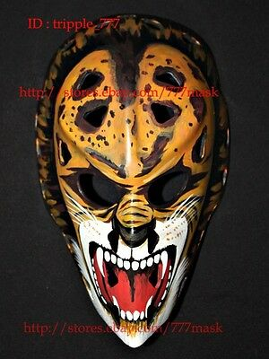 FIBERGLASS STREET NHL ICE HOCKEY GOALIE HELMET MASK Gilles Gratton The Lion HO32