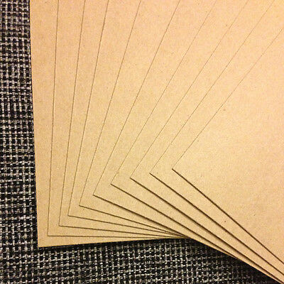 0.022 Chipboard 8.5x11 - 10 Sheets lightweight for crafts scrapbook shipping