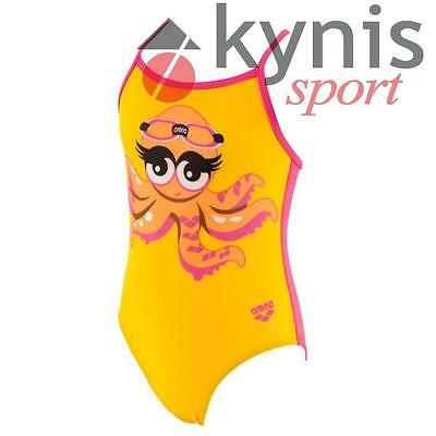 Costume Arena Buddies Kids One Piece Bambina Piscina Nuoto Giallo Fucsia
