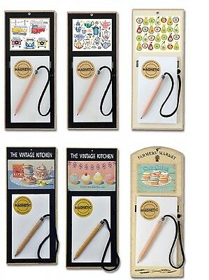 Magnetic Notepad Wooden Kitchen Fridge Shopping List Memo Made In The Uk