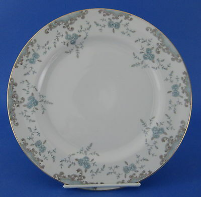 Imperial China Seville Dinner Plate Blue Roses Gray Scrolls Japan #5303