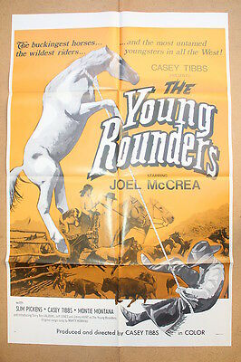 THE YOUNG ROUNDERS '66 Original OS Movie PosterJOEL McCREA & SLIM PICKENS