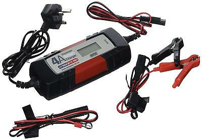 Maypole Fast Trickle Pulse Modes 4A 12V Battery Charger Smart Auto Electronic