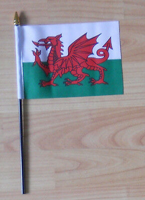 Wales Country Hand Flag - small