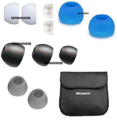 REPLACEMENT SILICONE IN-EAR EARPHONE HEADPHONE EARBUDS BUD TIPS GEL RUBBER Lot