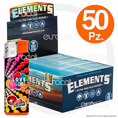 Cartine ELEMENTS Lunghe Slim 50pz King Size Scatola