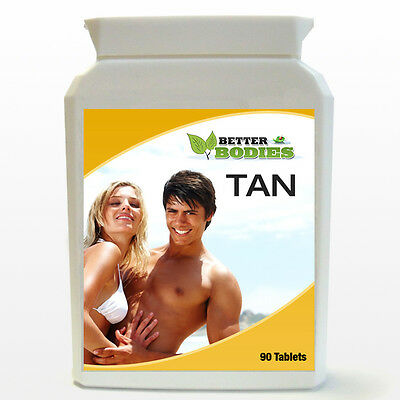Tanning Tablets Tan Quicker Speeds up Tanning Process 90 Tablets Capsules BOTTLE