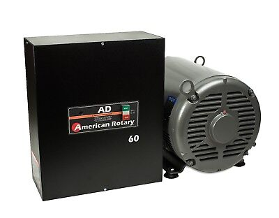 60 HP Rotary Phase Converter AD60 Digital Controls Heavy Duty CNC Made in USA