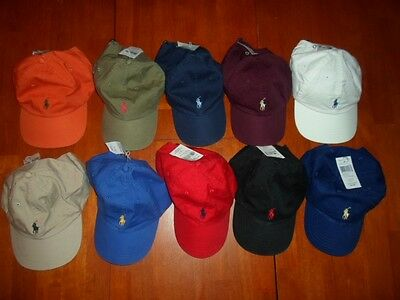 Nwt New Polo Ralph Lauren Adjustable Baseball Cap Hat Assorted Colors One Size,