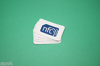 5 ZipNFC Logo On-Metal/Anti-Metal NFC TAGS/Stickers NXP NTAG213 Android Sony HTC