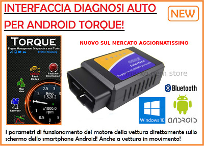 Interfaccia Diagnosi Obd2 Bluetooth Diagnosi Auto Obdii Can Bus Android Torque