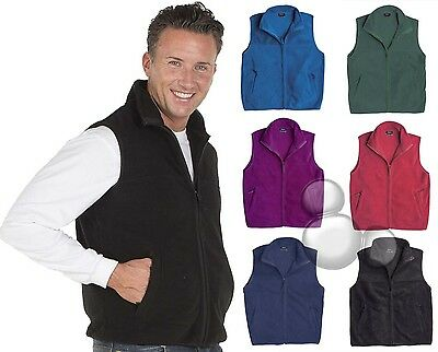 Mens Polar Fleece Vest Size S M L XL 2XL 3XL 4XL 5XL Winter