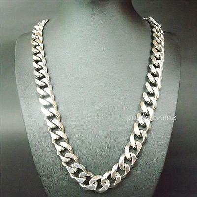 "21.5"" 12MM Stainless Steel Silver Heavy Chain Link (Curb) Necklace LS1-n"