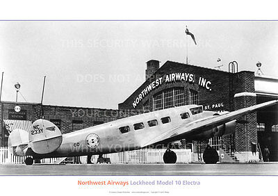 Northwest Airways Lockheed Model 10 Electra A3 Poster Print Picture Photo Image