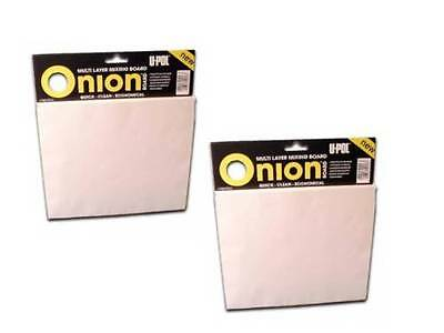 2 X Upol Onion Board for body  filler mixing  2 X 100 Sheet Boards