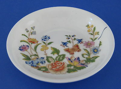 John Aynsley Sons Cottage Garden Pin Dish Coaster Flowers Butterflies Bone China