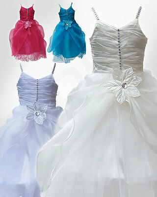 Stunning Flower Girl Dresses Sleeveless Bridesmaid Party Dress Age 1 To 13 Yrs