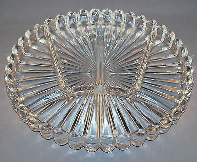 Heisey Crystalite 5 Section Relish Dish