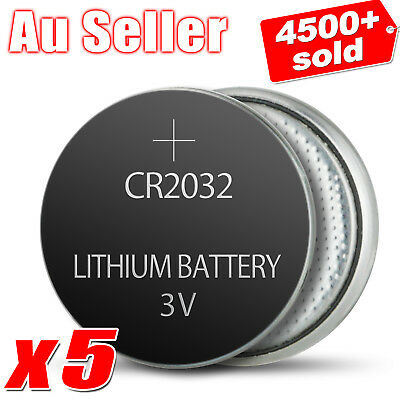 5x CR 2032 CR2032 3V Lithium Cell Watch Button Battery Car Key Toys Batteries OZ