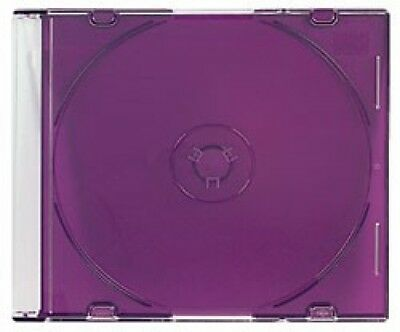 100 SLIM PURPLE Color CD Jewel Cases