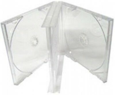 100 Clear Triple 3 Disc CD Jewel Case