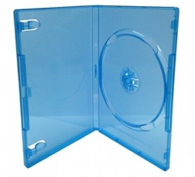 25 STANDARD Clear Blue Color Single DVD Cases