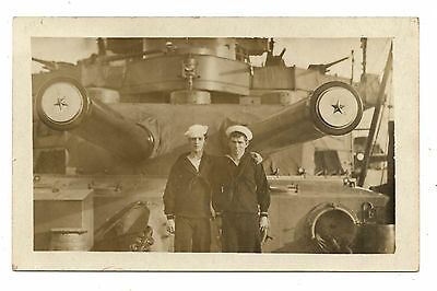 CARTE PHOTO.ON BOARD U.S.S. KANSAS.AMERICAN BATTLESHIP.MARINE AMéRICAINE.MARINS.