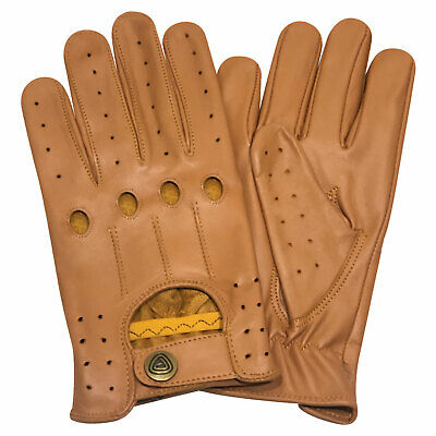 New retro style quality soft leather mens driving gloves unlined chauffeur 507