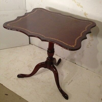 Beautiful Antique Mahogany Leathertop Stand. Ships by Greyhound $49. Make Offer.