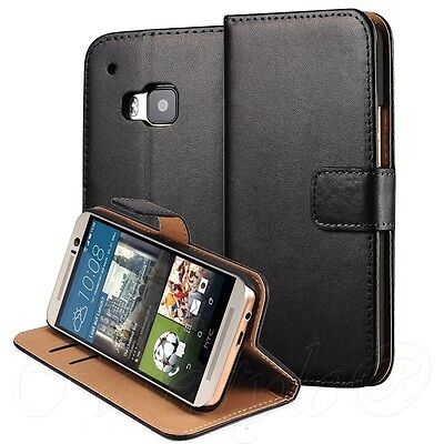 HTC 10 One 1 M9 M8 Phone Genuine Leather Wallet Flip Case Cover Card Holder New