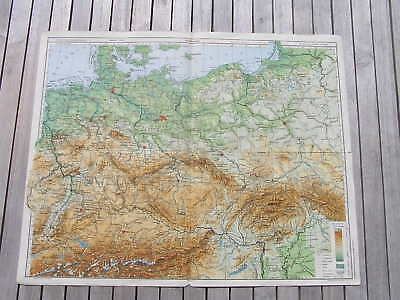 Antique map Mitteleuropa middle Europe Europa 1930