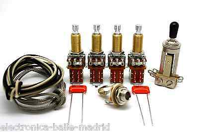 Deluxe Vintage Wiring Kit Push/pull Long Shaft Jimmy Page For Gibson Les Paul