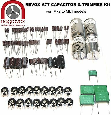 Revox A77 tape recorder capacitor and preset pot upgrade kit - Mk2 - 4