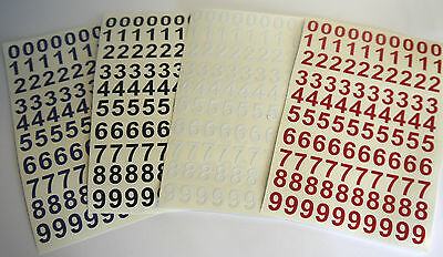 100 1/2 High Sticky Numbers arts, crafts, menu boards, signs. 0-9 10 of each.