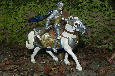 Medieval Griffin Knight On Horse with Lance Figurine