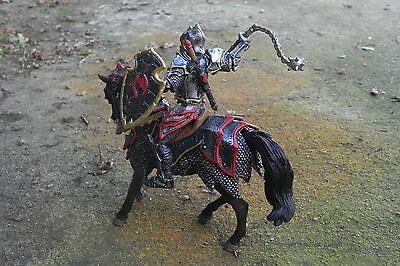 Medieval Dragon Knight On Horse with Flail Figurine Schleich