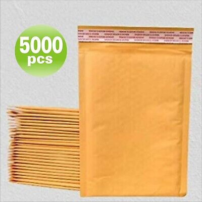 Yens® 2500 #000 Kraft Bubble Padded Envelopes Mailers 4 X 8