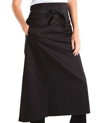 Aprons Continental Style Black or white Cafes Bars Clubs Restaurants side pocket