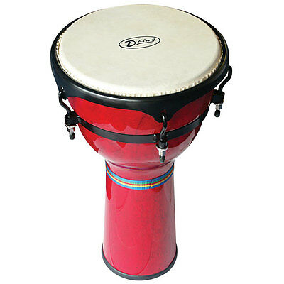 """Dfing Wood Djembe - 12"""" Red"""