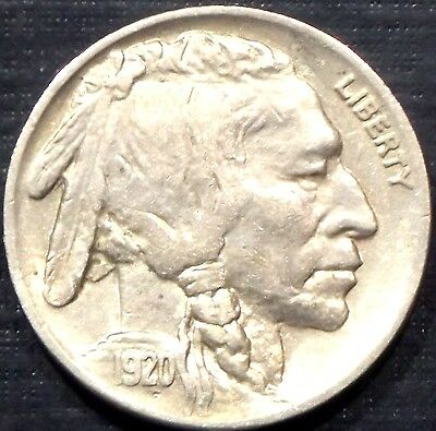 Semi Key 1920-P Buffalo Nickel Full Date + Full Horn High Grade Quality Coin Wow