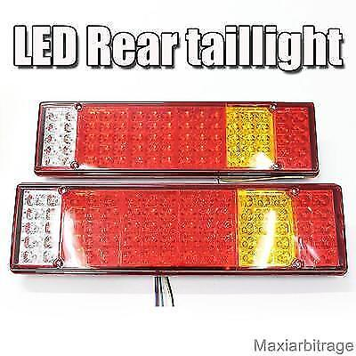 Led Rear Tail Lights Truck Trailer Chassis For Scania Volvo Daf Man Iveco 24v