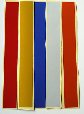 "4 x Reflective Adhesive Strips 8"" x 1"", Crafts, Vehicles, Hazards, 5 Colours"