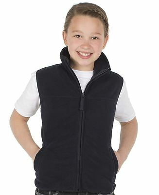 Kids Fleece Vest Navy Size 4 6 8 10 12 14 Polar School Boys Girls