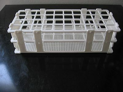 "Plastic test tube rack stand lab 40 tubes 1"" New"