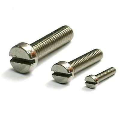 Lot100 Metric Thread M4*12mm Stainless steel Slotted Cheese Head Screw