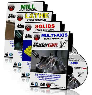 MASTERCAM X1-X7 LATHE + MILL + SOLIDS + MULTI-AXIS Video Tutorial HD TRAINING