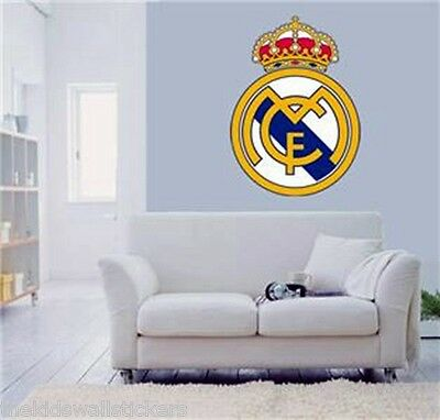 New Real Madrid FC football Club  Wall Sticker Bedroom Decal Vinyl Girls Art Gif
