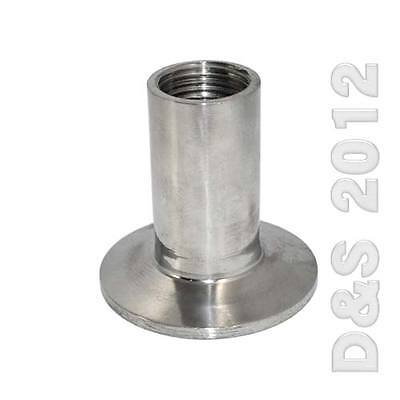 """3/4"""" Sanitary Female Threaded NPT Ferrule Pipe Fitting to 1.5"""" Tri Clamp  SUS316"""