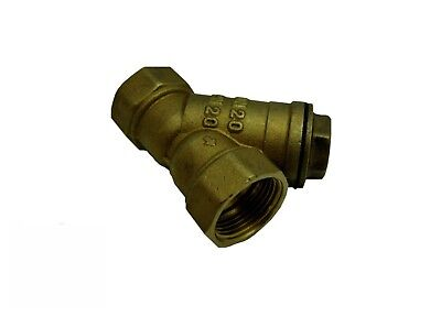 "Pressure Washer Jet Wash Brass Inline Y Water Filter Strainer 3/8"" 1/2"" 3/4"" 1"""