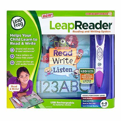 NEW! LeapFrog LeapReader Reading and Writing System (Pink)